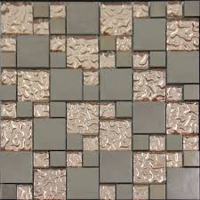 Copper Tiles For Kitchen Backsplash Copper Glass And Porcelain Square Mosaic Tile Designs Plated
