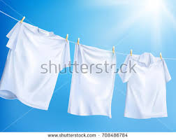 laundry detergent ads bright white clothes stock vector 708487126