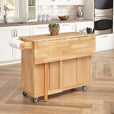 wood top kitchen island home styles 5023 95 wood top kitchen cart with