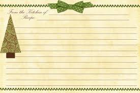 christmas recipe card templates christmas lights card and decore