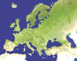European Union Blank Map by Satellite Map