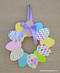how to make an easter egg wreath paper easter egg wreath family crafts