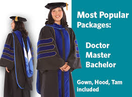 doctoral graduation gown academic regalia college graduation attire