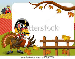 thanksgiving day horizontal frame featuring turkey stock vector