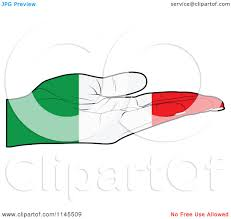 clipart of an italian flag hand with its palm facing up royalty