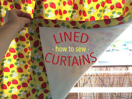 How To Attach Blackout Lining To Curtains Learn How To Sew Lined Curtains Step By Step On Craftsy