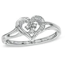 925 sterling silver v shaped heart promise ring size 5 6 7 8 9 10 diamond accent heart shaped promise ring in sterling silver