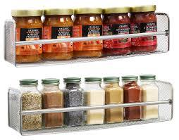 amazon com decobros 2 pack wall mount single tier mesh spice rack