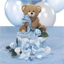 teddy themed baby shower teddy baby shower centerpiece cake with table