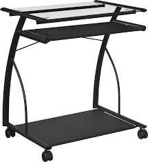 Computer Desk by Amazon Com Altra Sheldon Mobile Computer Desk Black Kitchen