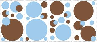 blue and brown dots removable wall decals wall2wall blue and brown dots removable wall decals