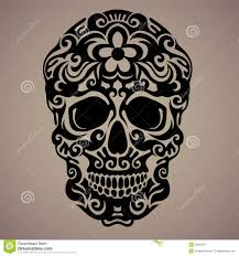 ornamental of a skull stock vector image 53059357
