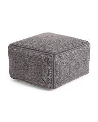 How Do You Spell Ottoman Made In India Indigo Blue Pattern Pouf Ottoman