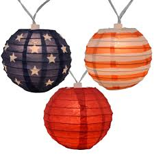 Battery Operated Christmas String Lights by Americana 4th Of July Lantern String Lights 10 Lights