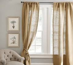 Smocked Burlap Curtains Best 25 Burlap Drapes Ideas On Pinterest Burlap Living Rooms
