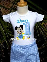 mickey mouse 1st birthday shirt mickey mouse ba 1st birthday boys shirt baby mickey 1st