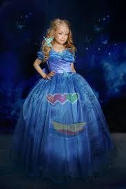 cinderella blue butterfly dress girls fancy gown birthday party