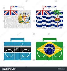 Antarctic Flag Nation Flag Radio Recycled Paper On Stock Illustration 416947252