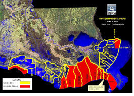 louisiana map areas dhh closes oyster harvesting area 9 due to spill emergency