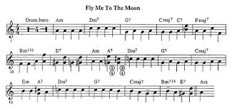 transcription fly me to the moon
