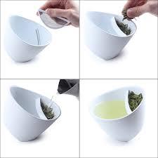 tipping teacup tea infuser mug glass uncommongoods