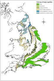 Map Of England And Wales Nitrate Occurrence And Attenuation In The Major Aquifers Of