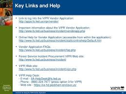 forest service help desk overview for using the vipr vendor application february 23 ppt download