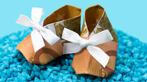 origami money booties how to make paper money shoes diy
