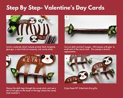 sloth valentines day card step by step a touch of that