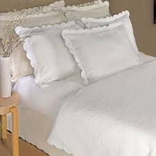 bedroom attractive matelasse coverlet scalloped edge and