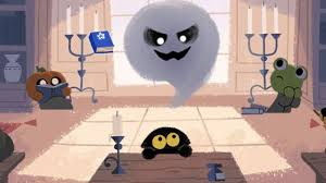 google scares up a cute game for halloween doodle cnet