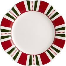christmas plates pier 1 imports christmas stripes dinner plate polyvore