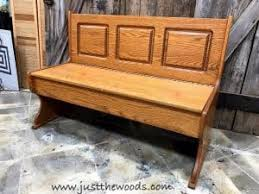 Oak Storage Bench Farmhouse Painted Bench With Storage By Just The Woods