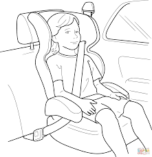 buckle up for safety coloring page free printable coloring pages
