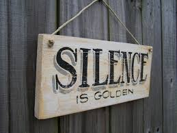 rustic kitchen decor rustic kitchen sign silence is golden sign