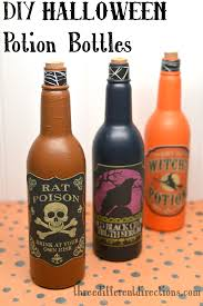 Crafty Halloween Decorations Diy Halloween Potion Bottles Decoration Three Different Directions