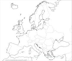 Europe Map Labeled by Map Outline