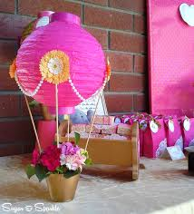 the semi crafter air balloon baby elephant theme shower i used