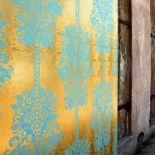 flavor paper monaco gold and turquoise wallpaper