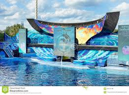 Sea World Orlando Map by One Ocean Seaworld Orlando Orca Stadium Editorial Stock Image