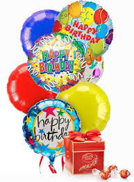 birthday balloon bouquet birthday balloon bouquet with chocolates weekly flowers ottawa
