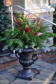 Outdoor Christmas Decorations Urns by Easy Outdoor Holiday Decor Evolution Of Style