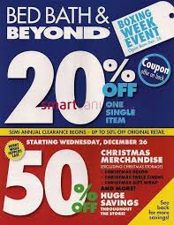 bed bath and beyond christmas table linens flyer bed bath beyond 2012 boxing day flyer dec 26 to jan 2