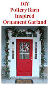 diy pottery barn inspired ornament garland the happier homemaker