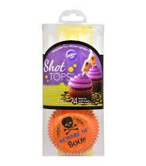 wilton halloween cakes wilton baking cups u0026 shot tops combo pack 36 pkg beware of boos