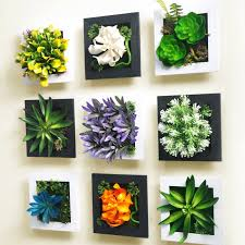 3d artificial garden wall squares decals for walls flower