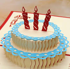 happy birthday cake 3d popup greeting card birthday gift birthday