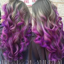 ashy blonde to pink purple balayage hair colors ideas