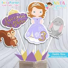 princess sofia centerpieces birthday party first sofia