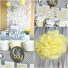 baby shower decorations for gray yellow baby shower decorating ideas of family home